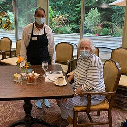 Daystar Retirement Village Keeping Residents Safe During COVID-19 Dining Hall