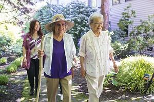 Seniors Walking at Daystar Retirement Community