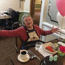 96-year-old birthday at Daystar Retirement Village in West Seattle